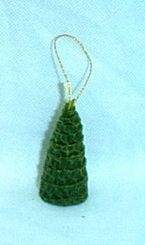 2 inch beeswax Christmas tree ornament