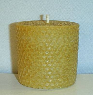 Short Beeswax Pillar