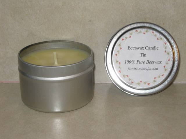 4 Oz 100% Beeswax Candles Tin