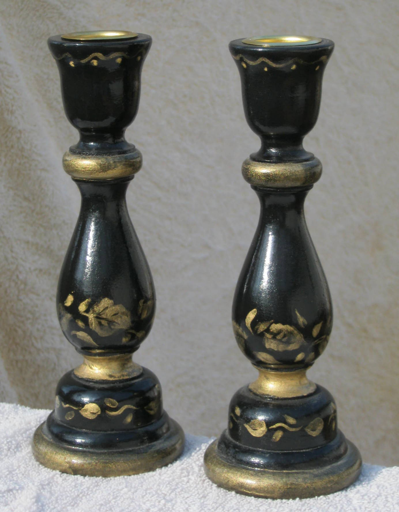 Handpainted candlesticks